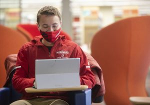 Student Using Microsoft Surface Pro 7