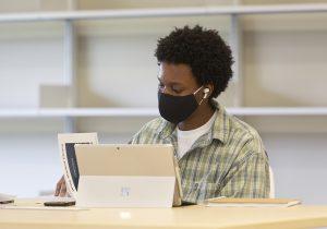 Man Using Microsoft Surface Pro 7